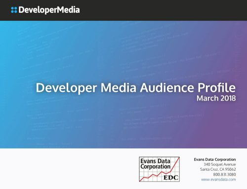 Download the March 2018 Developer Media Audience Profile by Evans Data