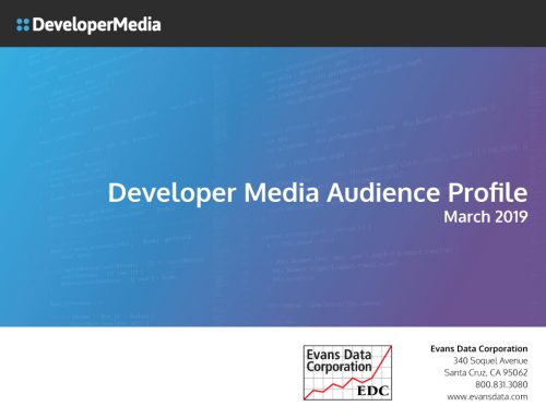 Check Out the 2019 Developer Media Audience Profile by Evans Data