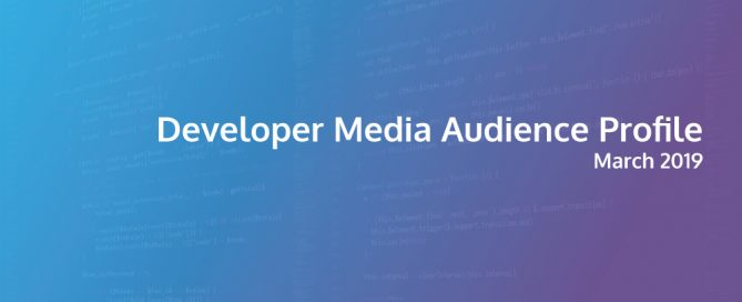 2019 Developer Media Audience Profile cover