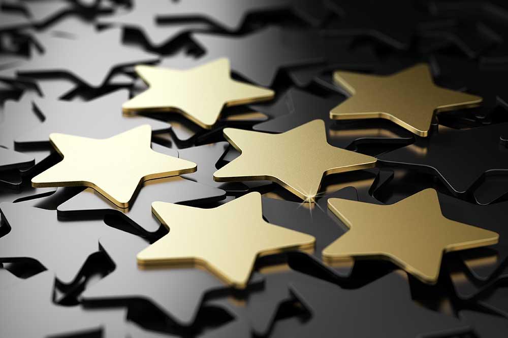 Gold star ratings