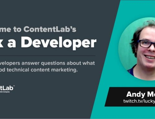 Ask a Developer: Andy Morrell Wants Comprehensive Blog Posts