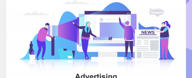 People working on advertising
