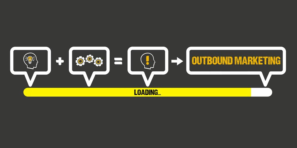 Loading bar showing attract and engage leading to delight in outbound marketing