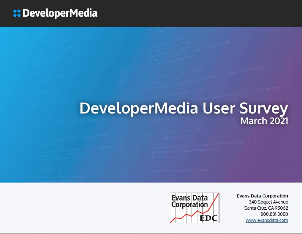 2021 Evans Data Developer Media Audience Survey Cover