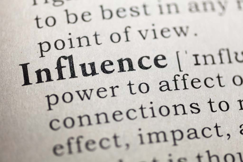 Influence in dictionary